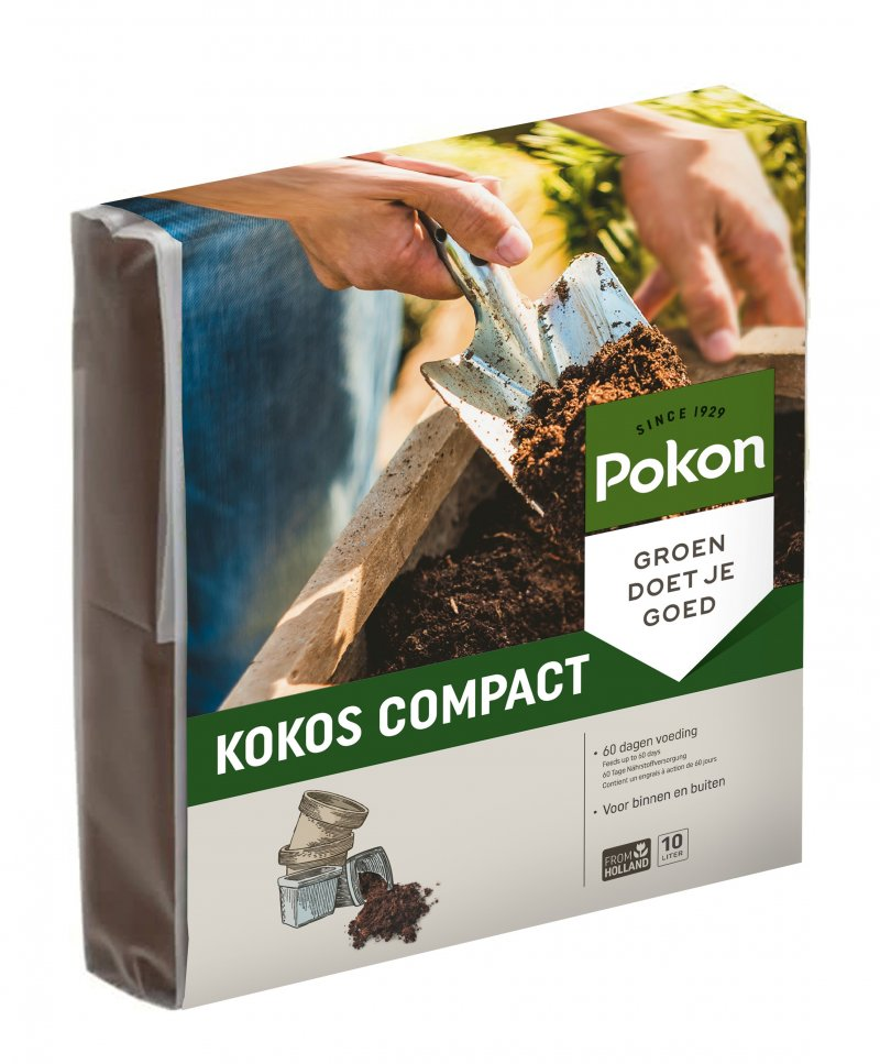 Kokos Potgrond Compact | Pokon compacte potgrond 10L of 100L